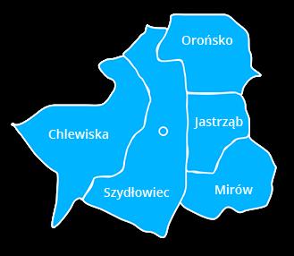 mapa powiatu szydłowieckiego